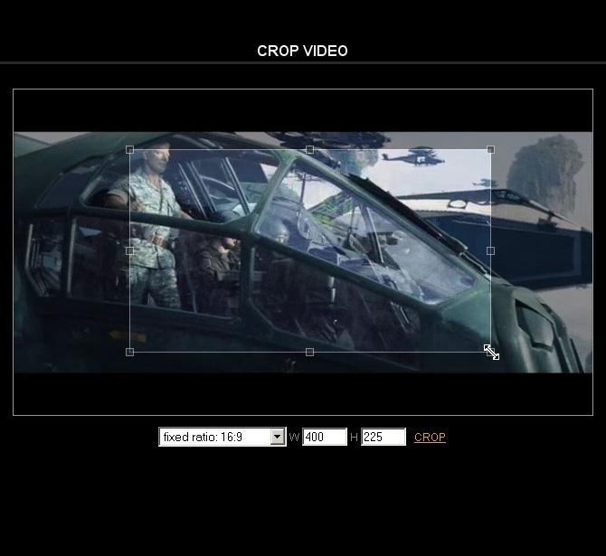 Crop video online